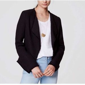 Ann Taylor LOFT women's black tweed blazer